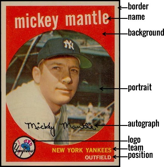 1959 Topps 10 mickey mantle front