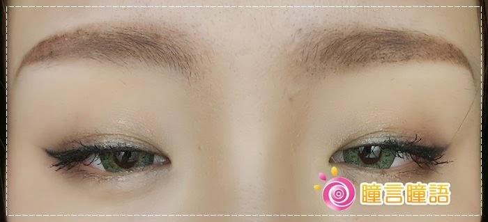 韓國GEO隱形眼鏡-GEO Sparkling 火花四色綠011