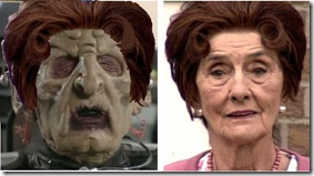 Dot Cotton (Branning) and Davros look alike.