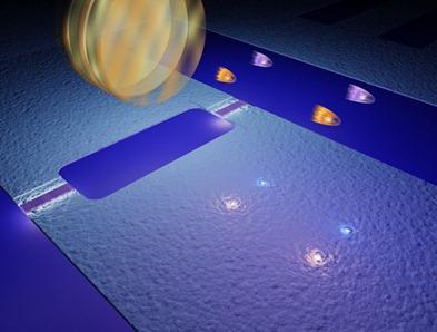 ilustração do efeito Casimir dinâmico