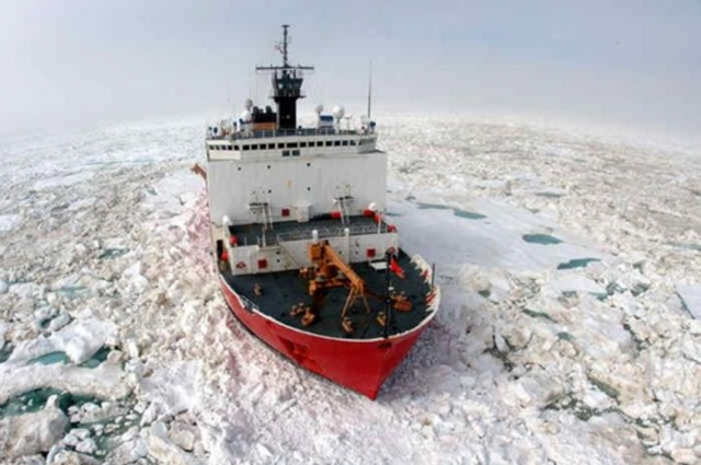 U.S. Coast Guard Icebreaker Healy, which is one of only two icebreakers that the U.S. currently operates. Photo: U.S. Coast Guard