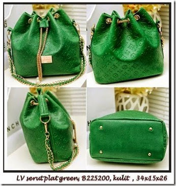 B225200 LV Serut Green,34x15x26
