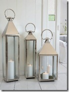 Glass and Stainless Steel Lanterns
