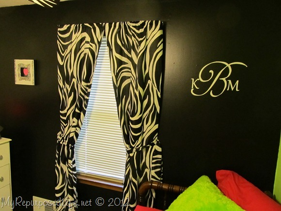 Teen Bedroom Zebra Print {CAMEO July Promotion