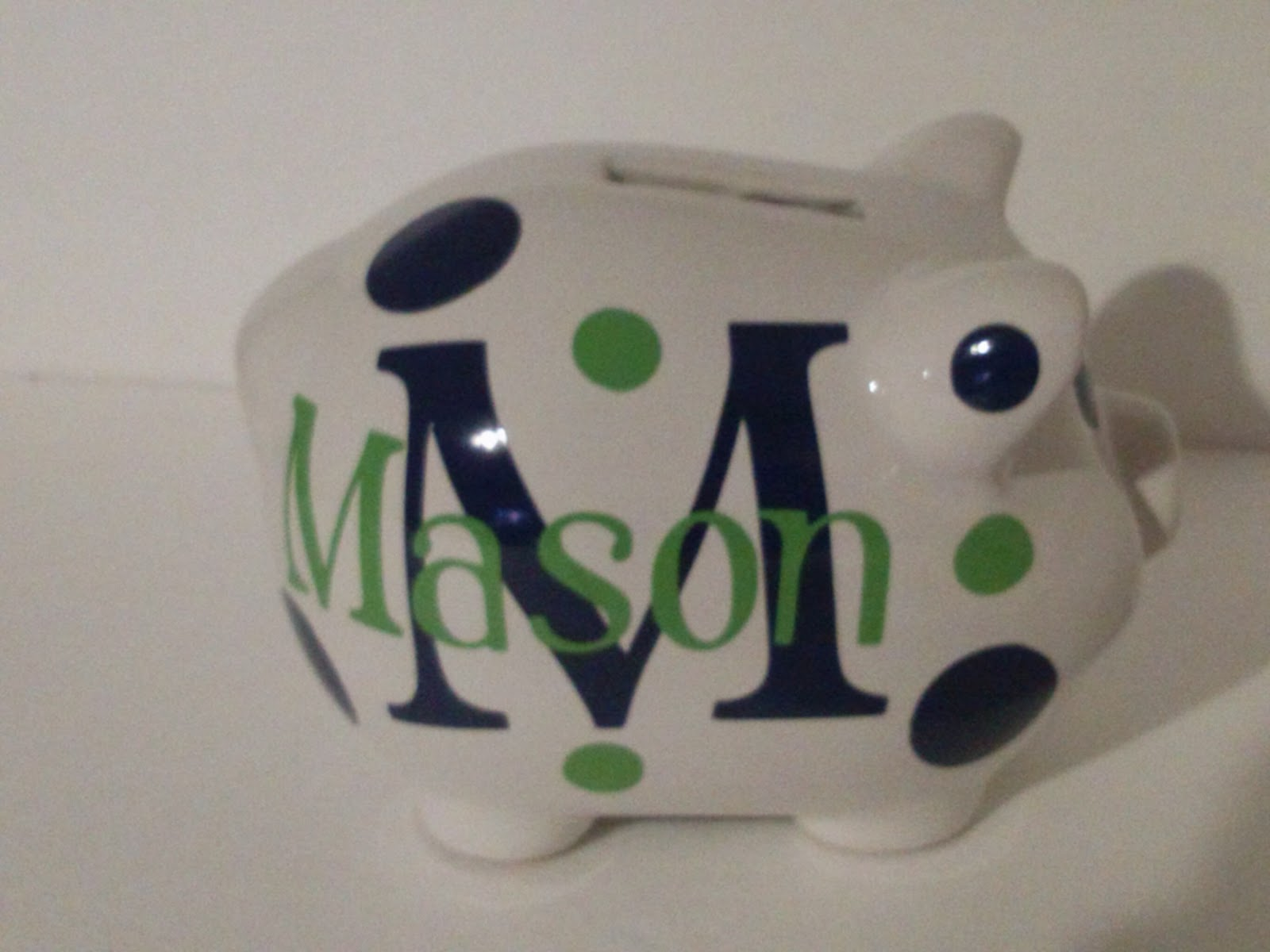Mud pie reality personalized vinyl piggy bank baby gift personalized vinyl piggy bank baby gift negle Images