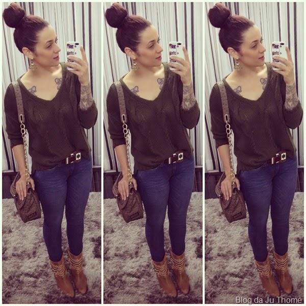 look calça jeans, trico e botinha (2)