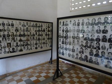 Poze prizonieri ucisi de khmerii rosii - Muzeul Genocidului Phnom Penh