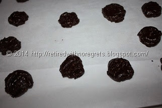 Peanut Butter Brownie Cookies - Gluten Free -before oven