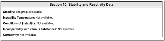 MSDS_ANSI_Section_10
