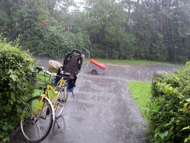 Regnvejr og reklameombringning
