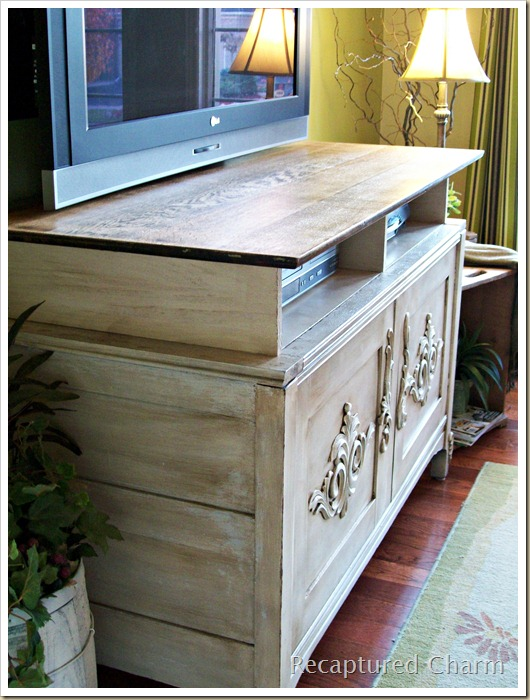 wooden entertainment unit after 027a