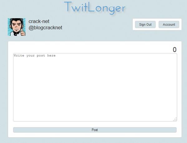 Un service web pour rédiger des Tweets de plus de 140 caractères