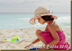 Richa at the beach.