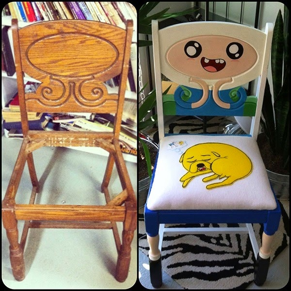 Adventure Time Antique Chair Restoration via Nerd Approved