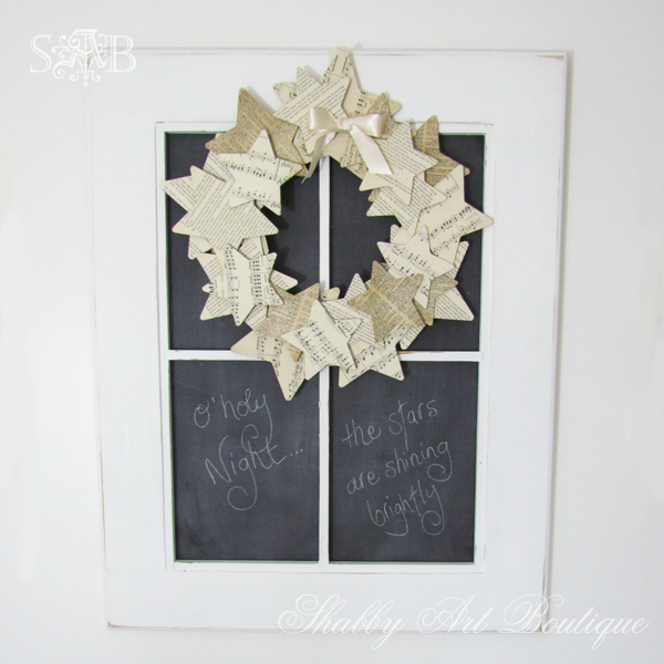Shabby Art Boutique paper wreath2
