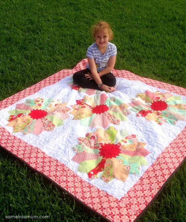 B is for Bloom Quilt by Samelia's Mum