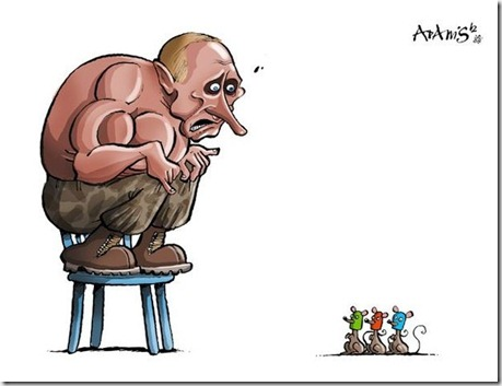 """""""Иди на ху#, Путин"""": Президенту России понравилась атака голых Femen, но как их скрутили - нет - Цензор.НЕТ 9102"""