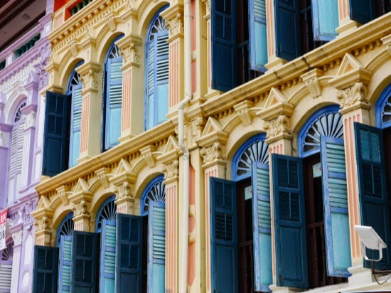 Shuttered windows - Chinatown, Singapore