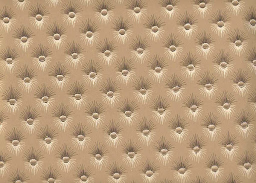 Vintage wallpapers are always a great option. Isn't this tufted pattern clever? (secondhandrose.com)