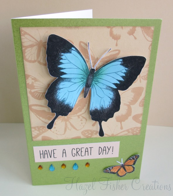Hazel Fisher Creations Handmade Birthday Cards – Butterfly Birthday Card