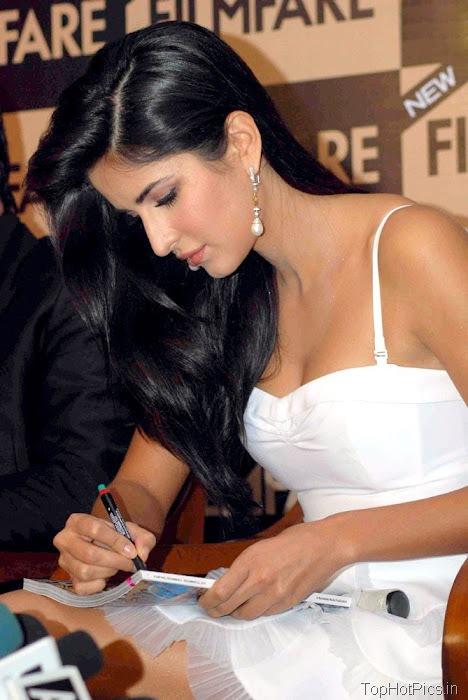 Katrina Kaif Navel Show Pics in White Dress 2