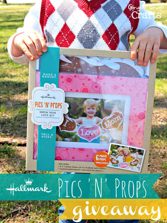 Hallmark Pics 'N' Props Giveaway at GingerSnapCrafts.com