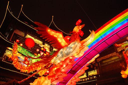 Shanghai Fête des Lanternes 2012 - Pheonix et arc-en-ciel