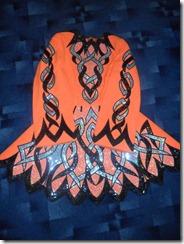Orange dress front