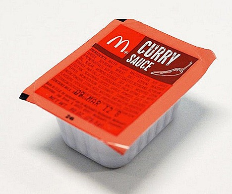 McDonalds curry sauce new packaging