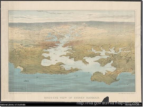 vintage map of Sydney Harbour