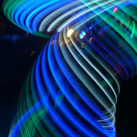 Blue Twister by Cecilia Sterling - Abstract Light Painting ( twister, blue light, edm, blue, hooping,  )