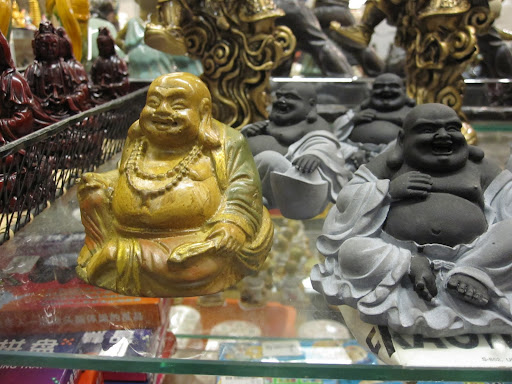 Buddha figurines can be found in the store too.