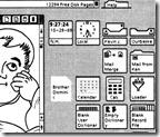 Rozhraní Xerox Alto. První předchůdce dnešních operačních systémů pro počítače.