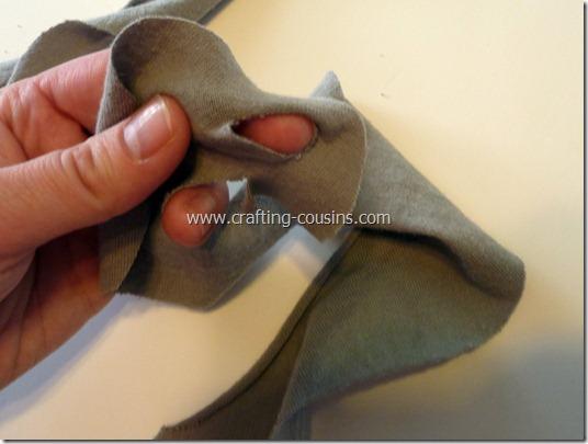 no sew ruffle scarf 7