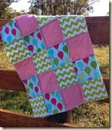 Shaggy Baby Girl Quilt 1