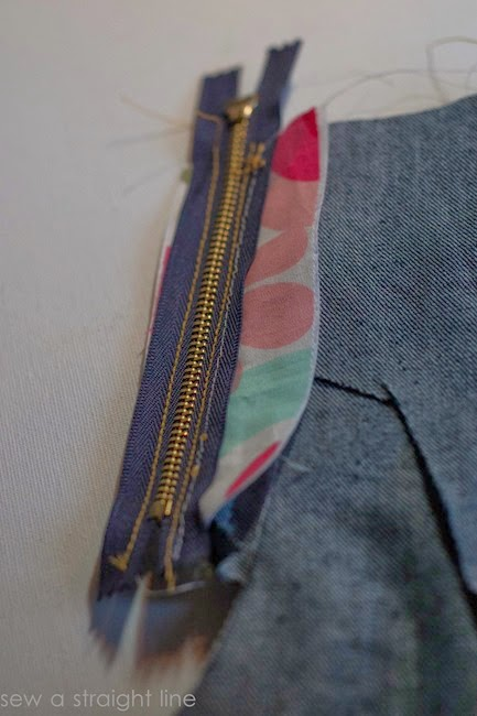 zipper fly jeans sew along sew a straight line-13