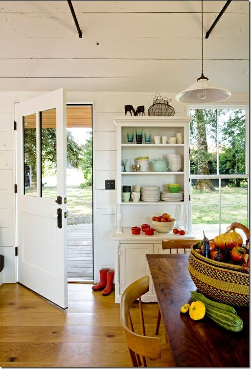 Tiny House Kitchen from Front Door by Jessica Helgerson Interior Design, photo Lincoln Barbour