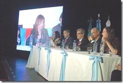 Juan Pablo de Jesús en videoconferencia con la presidenta de la Nación Cristina Fernández de Kirchner