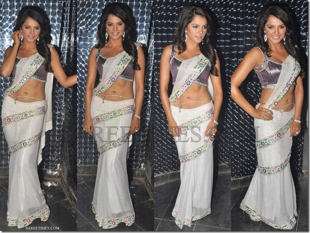 Veena_Malik_White_Saree