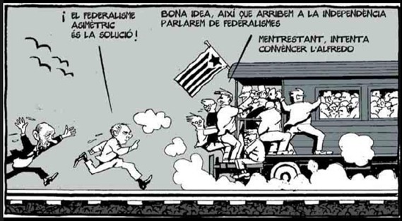 independència catalana la corsa de tren