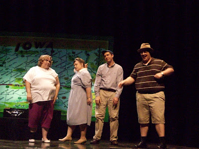 Cast from Left to Right:  Melanie Hawkins, Melody Lockard, Steven Lockard, Brett Pierson