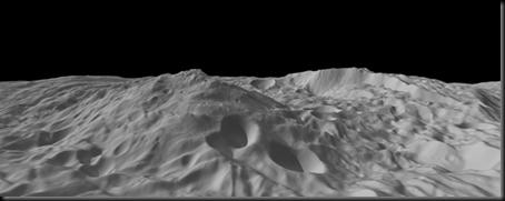Polo sul do asterie Vesta em fotografia da sonda Dawn; no centro; pico com 22km de altura (Foto: NASA)