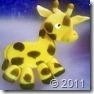 Girafinha de biscuit