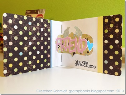 Hello Friend Card with Friend Pop `n Cuts by @gscrapbooks
