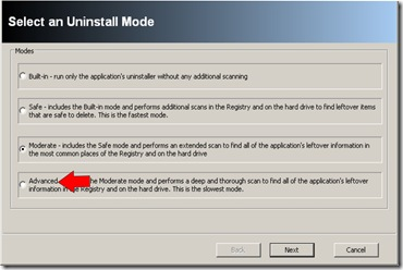 revo uninstall mode