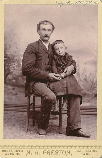 Cabinet Card Father and Son DL Antiques