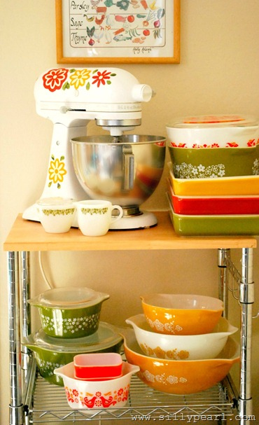 The Silly Pearl-Vintage Pyrex-Inspired Mixer Decals