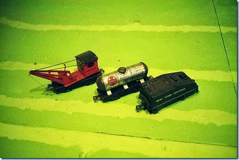 Marx 6-in Wrecker & #553 6-in Tank Car & Slope Back Tender