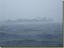 Island in rain