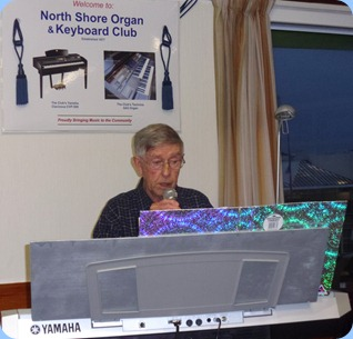 Michael Bramley singing along with the rhythm